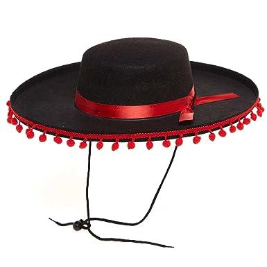 KIABI Chapeau espagnol noir TU  Amazon.fr  Vêtements et accessoires 6c0cca14da6