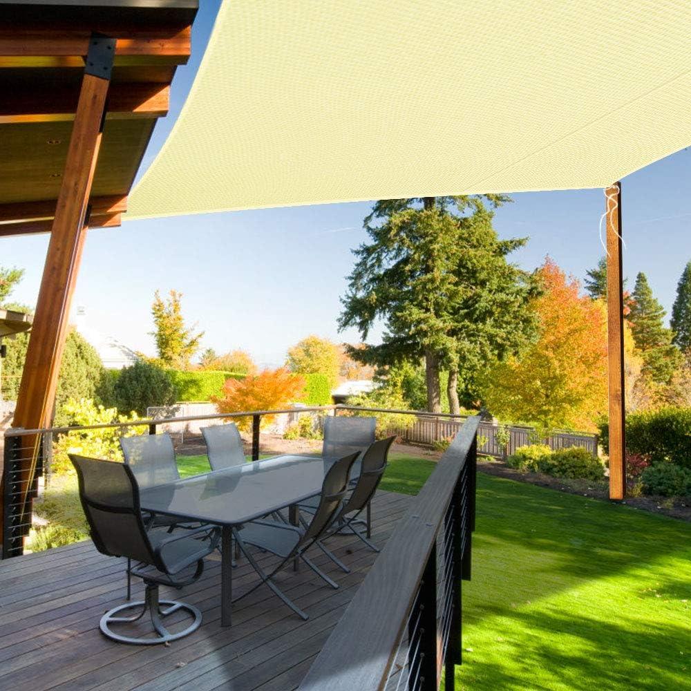 completa di corda Tenda parasole da giardino e patio Ankuka baldacchino che blocca i raggi UV al 98/%