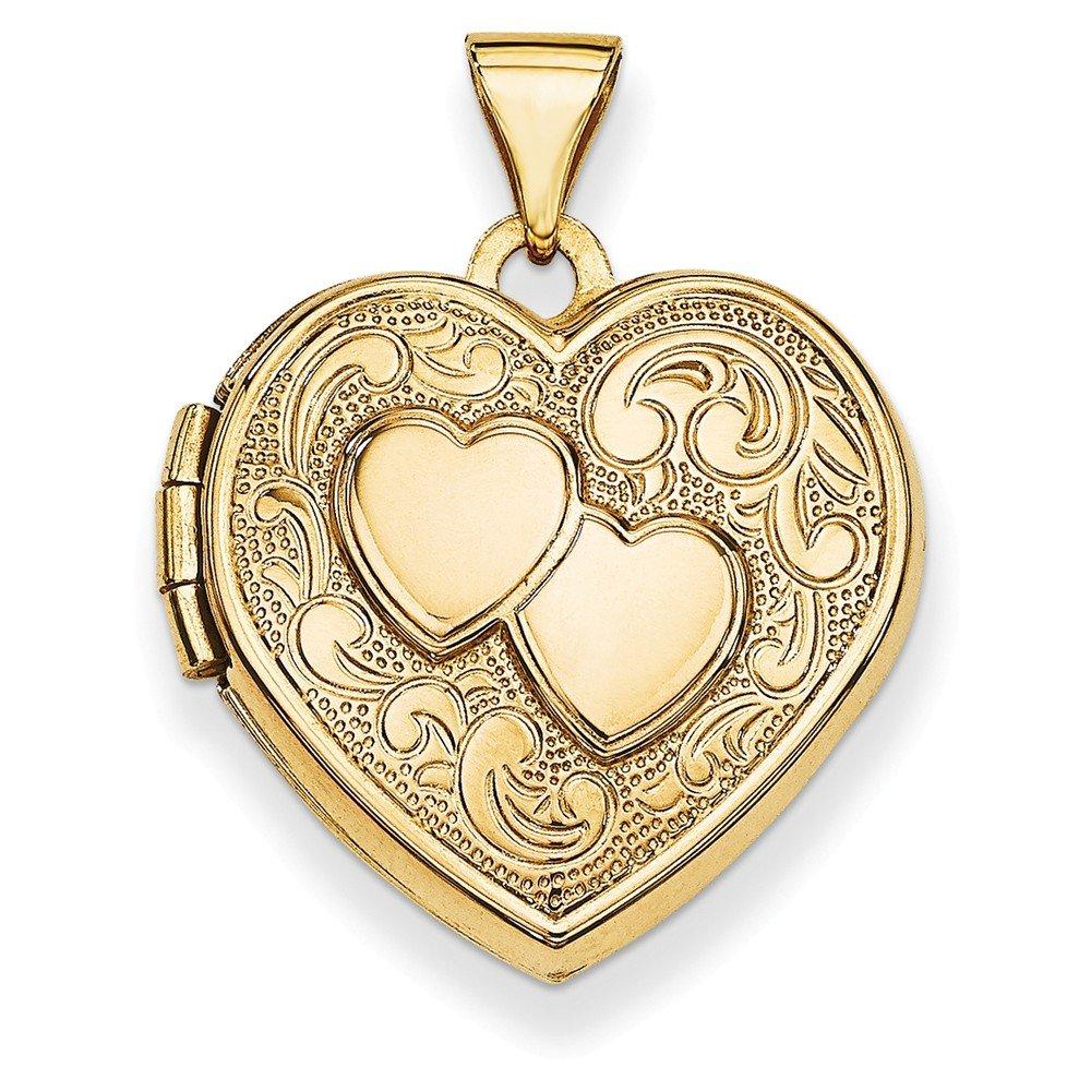 14k Double Heart Locket