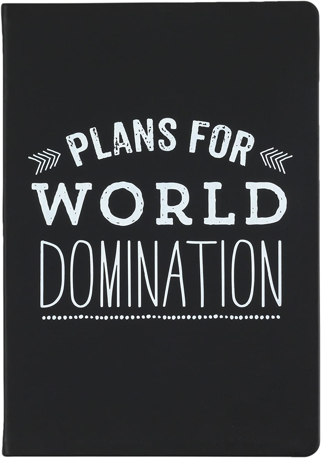 Eccolo World Traveler Style Journal World Domination Notebook, 256 Lined Pages, 6x8