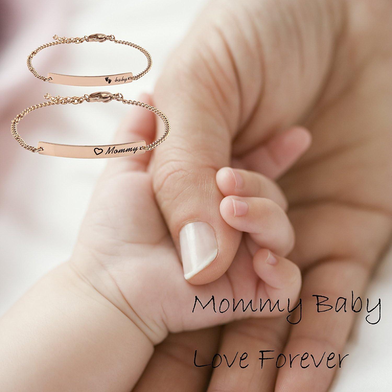 Gift for New Mom Name Bracelet  Kids Baby Custom Personalized Newborn Gift SB0181