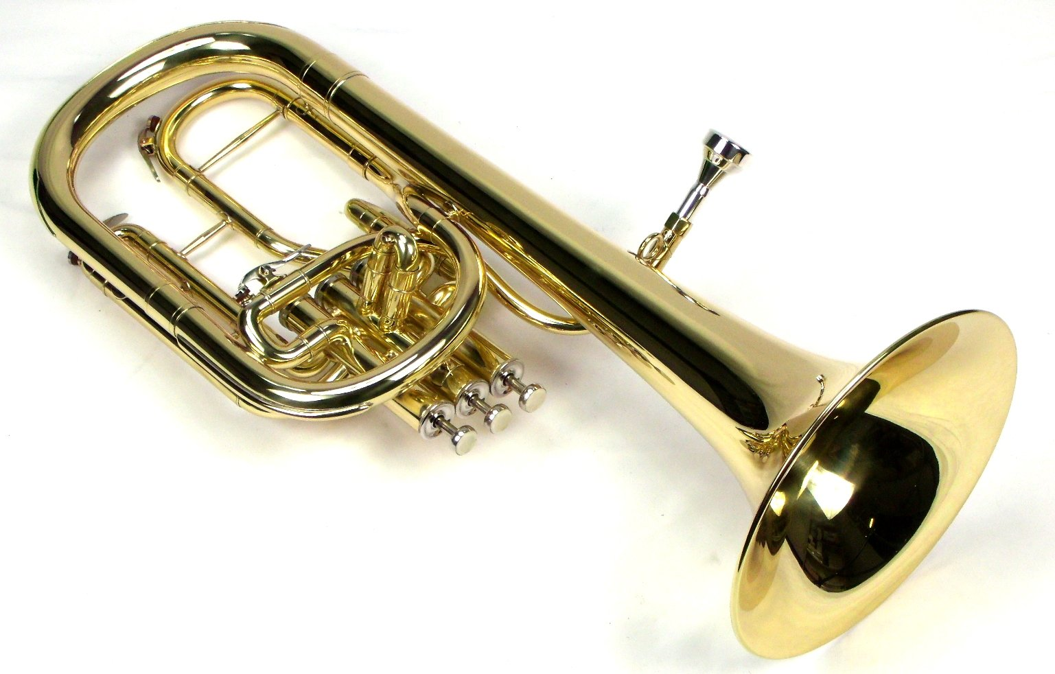 Intermediate Monel Pistons Alto Horn w/Case & Mouthpiece-Gold Lacquer Finish by Moz (Image #4)