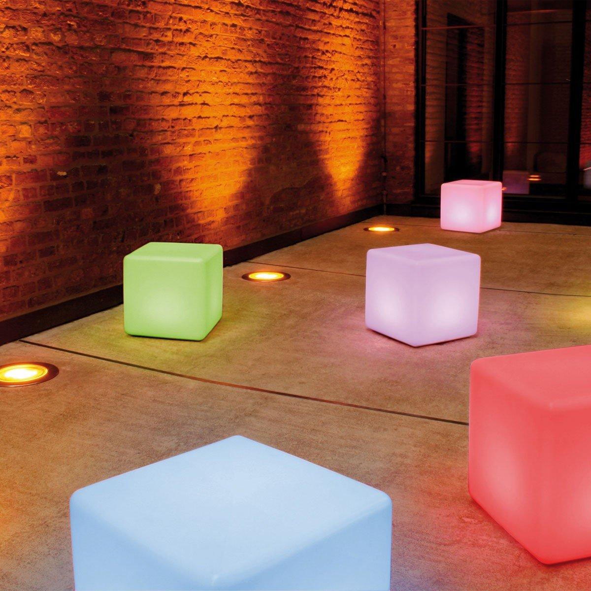 moree LED Bodenleuchte Cube LED Pro Accu, Weiß, Kunststoff, 06-01-01