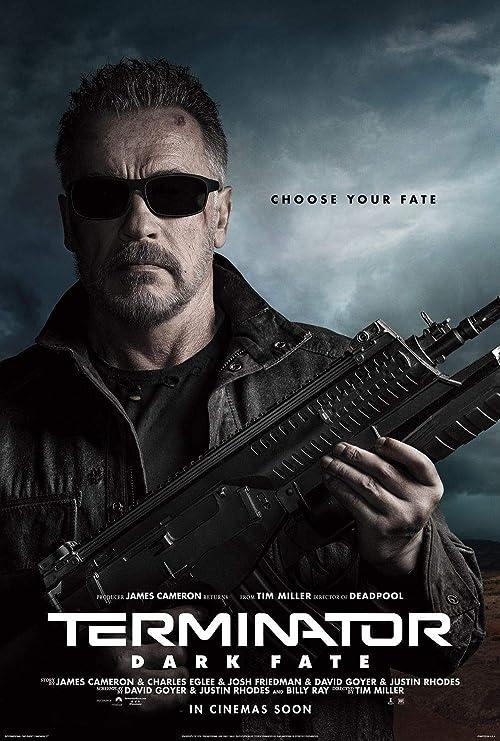 Terminator Dark Fate 2019 Poster James Cameron Movie 2019 Film Print 24x36
