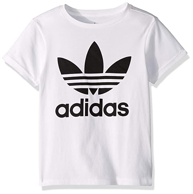 adidas Originals Boys' Big Trefoil Tee, White/Black, X-Large