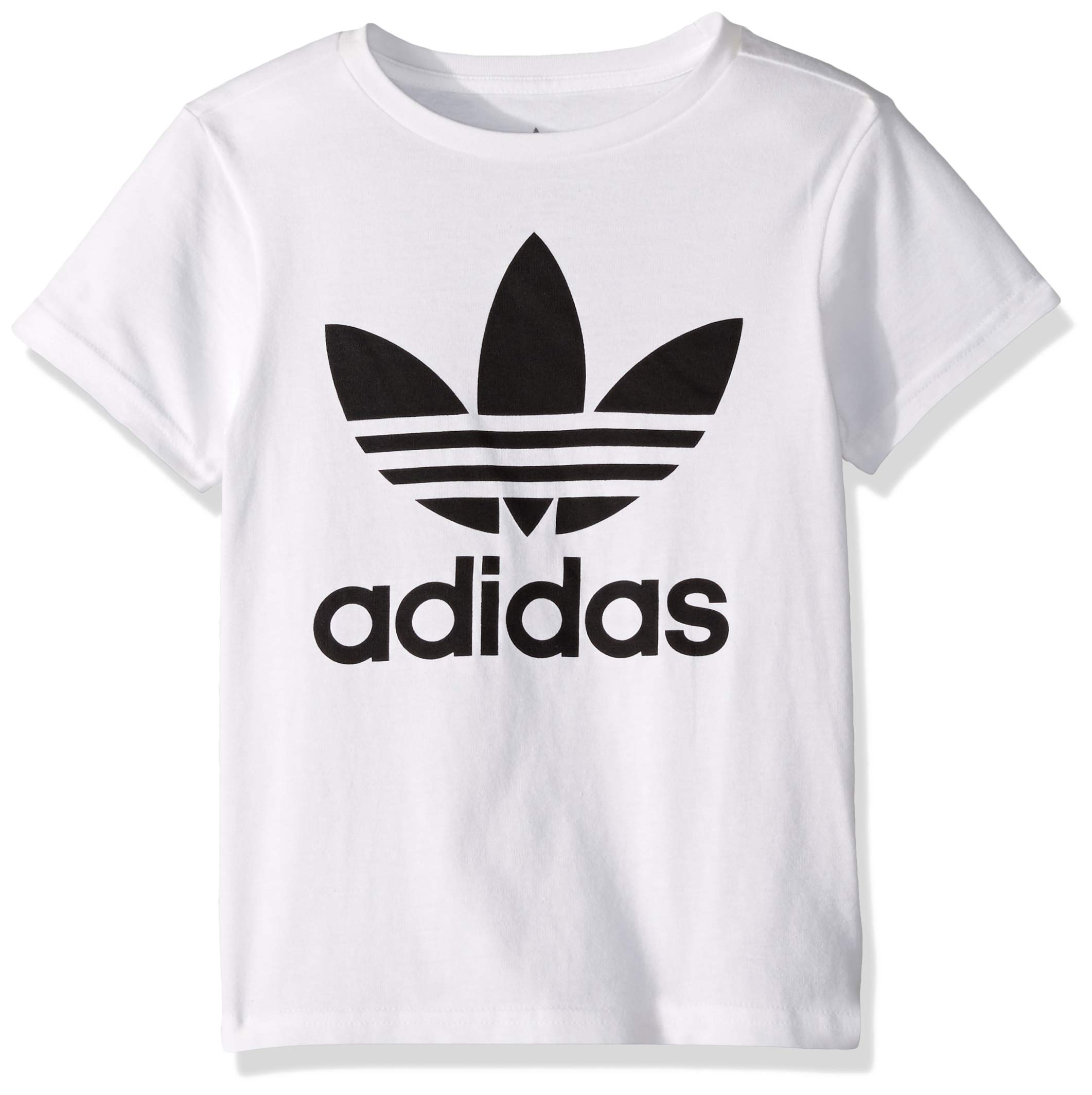 adidas Originals Boys' Big Trefoil Tee, White/Black, Medium
