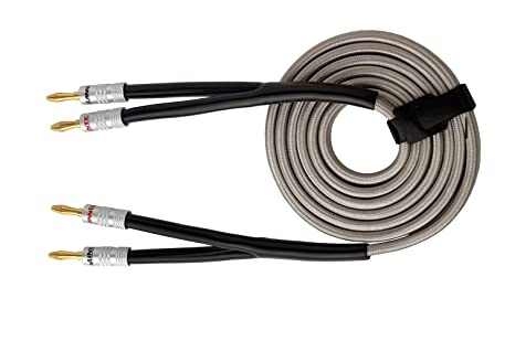 amazon com hannlinte speaker wire speaker cable(10 0ftx1) withWiring A Plug Gold And Silver #15