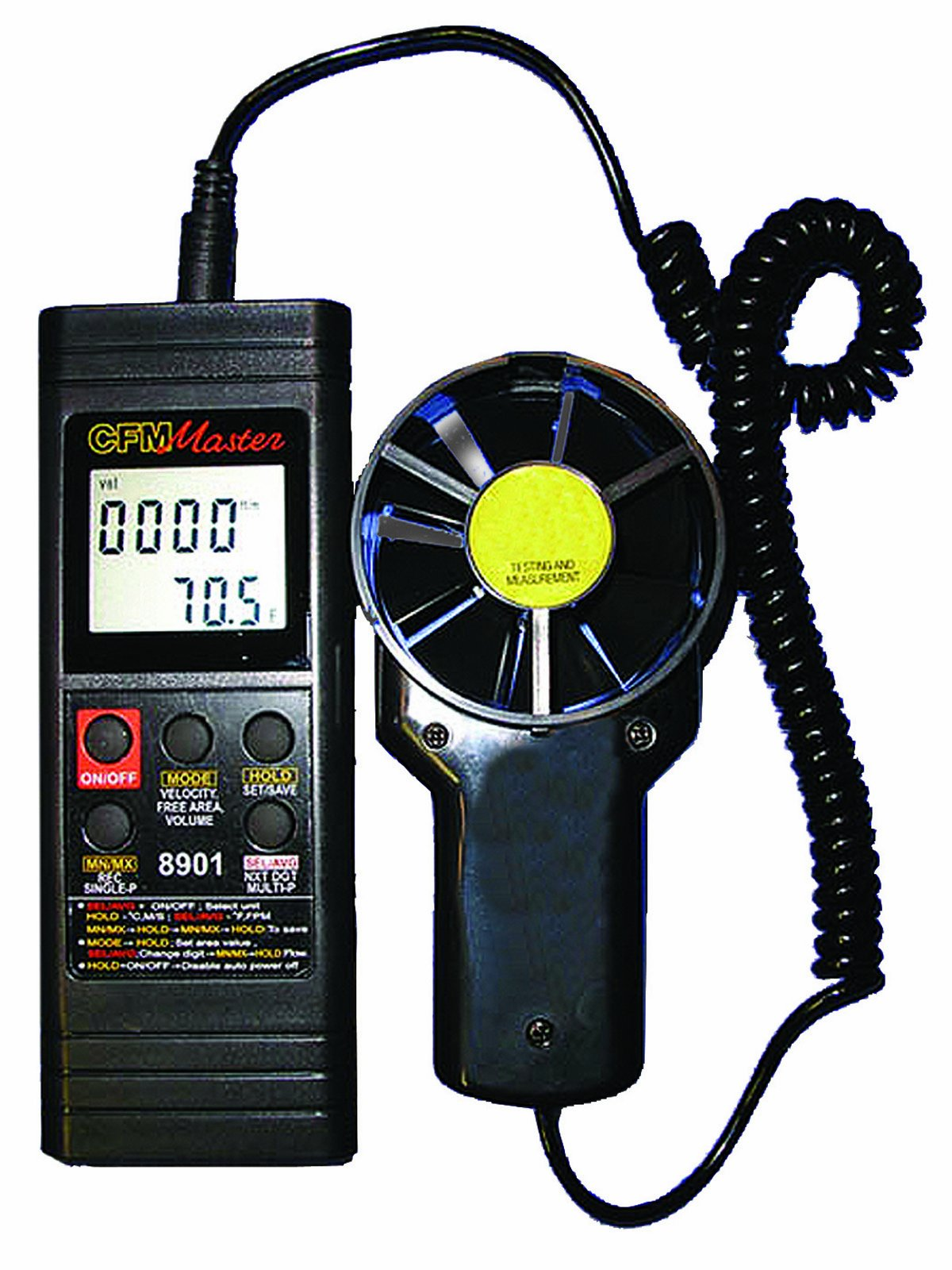 General Tools DCFM8901 Digital Two Piece Air Flow Meter with RS232 Output