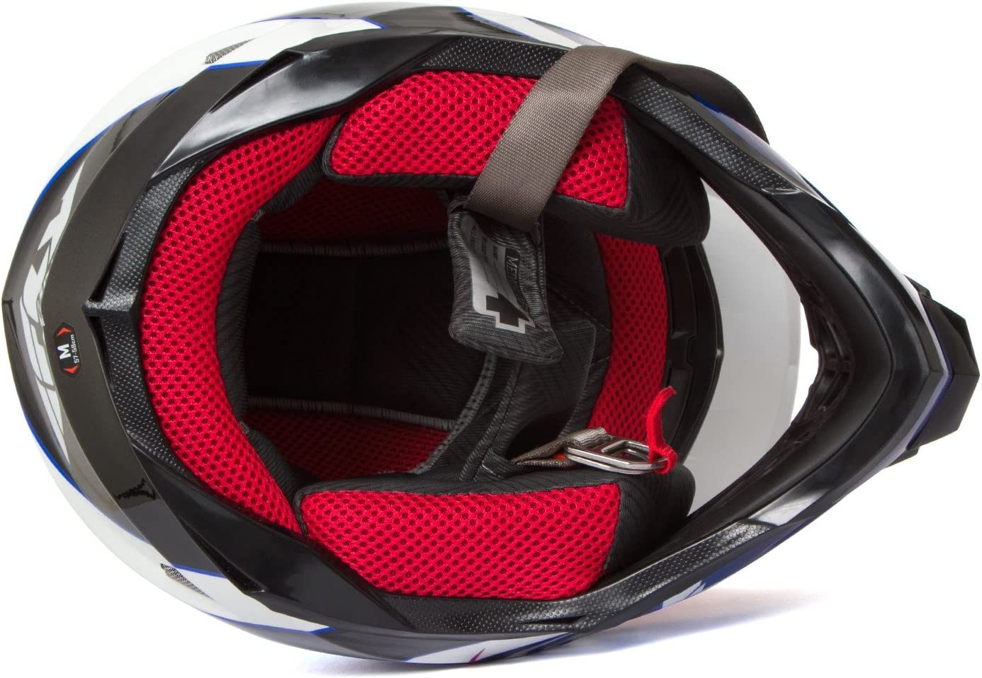 L Fly Racing Helm F2 Carbon Fastback Blau Gr