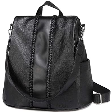 shop for official quite nice new images of Women Backpack Purse, VASCHY Fashion Faux Leather Anti-theft Backpack for  Ladies School Bag with Vintage Weave