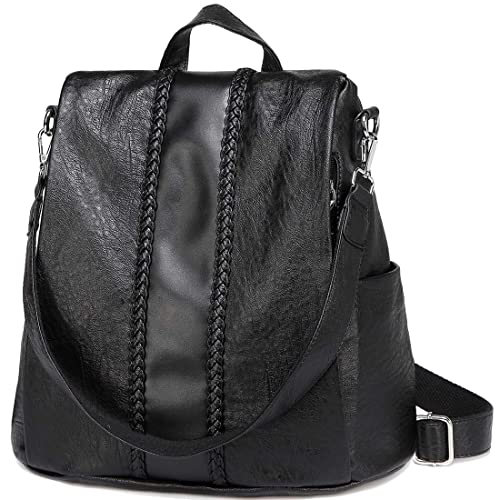 VASCHY Backpack Purse for Women, Fashion Faux Leather Convertible  Anti-Theft Backpack for Ladies aae94ad2aa