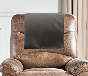Genuine Leather Recliner Chair Headrest Cover, Furniture Protector, Loveseat Theater Seat Cover, Recliner Slipcovers Brown Set of 1