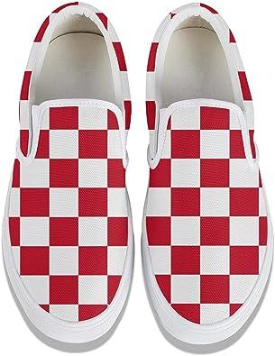 Checkered Mens Slip-on