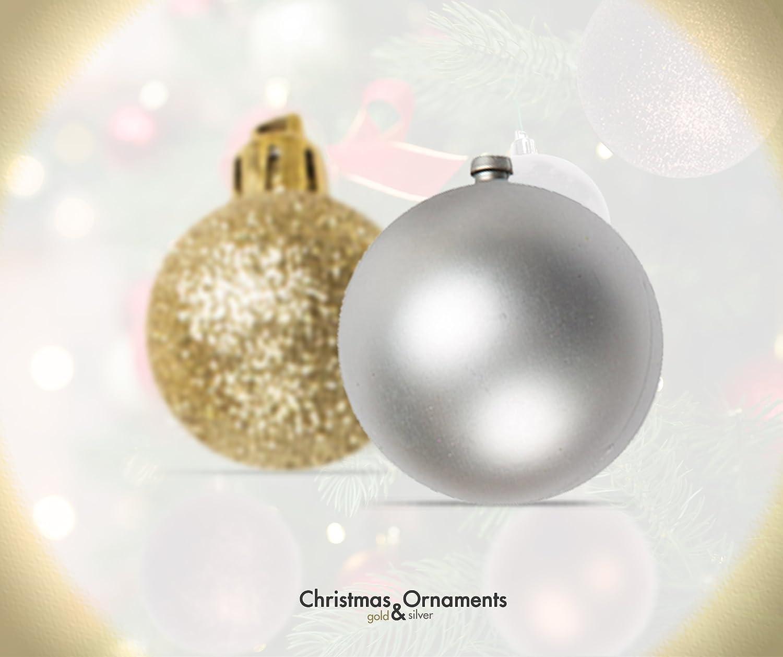 Amazon.com: 100 Gold And Silver Christmas Ornament Balls ...