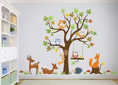 Wandtattoo Kinder Babyzimmer Aufkleber Eule Eulen Wandsticker Wand