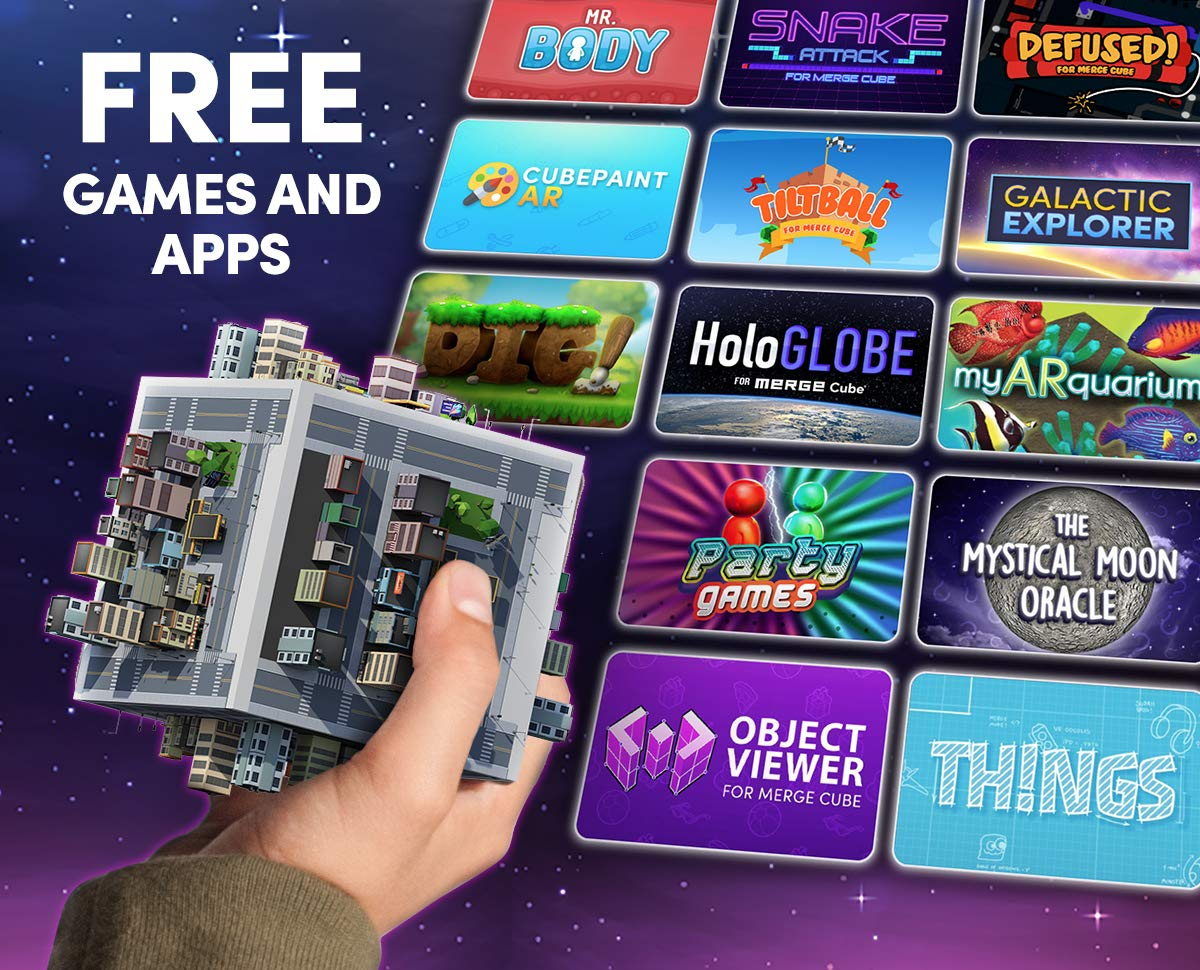 MERGE Cube - Fun & Educational Augmented Reality STEM Product, Learn Science, Math, and More (2 Packs) by MERGE (Image #6)