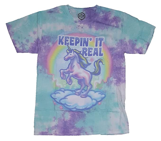 0589e8e8dff2 Amazon.com: Keepin' It Real Unicorn Graphic T-Shirt: Clothing
