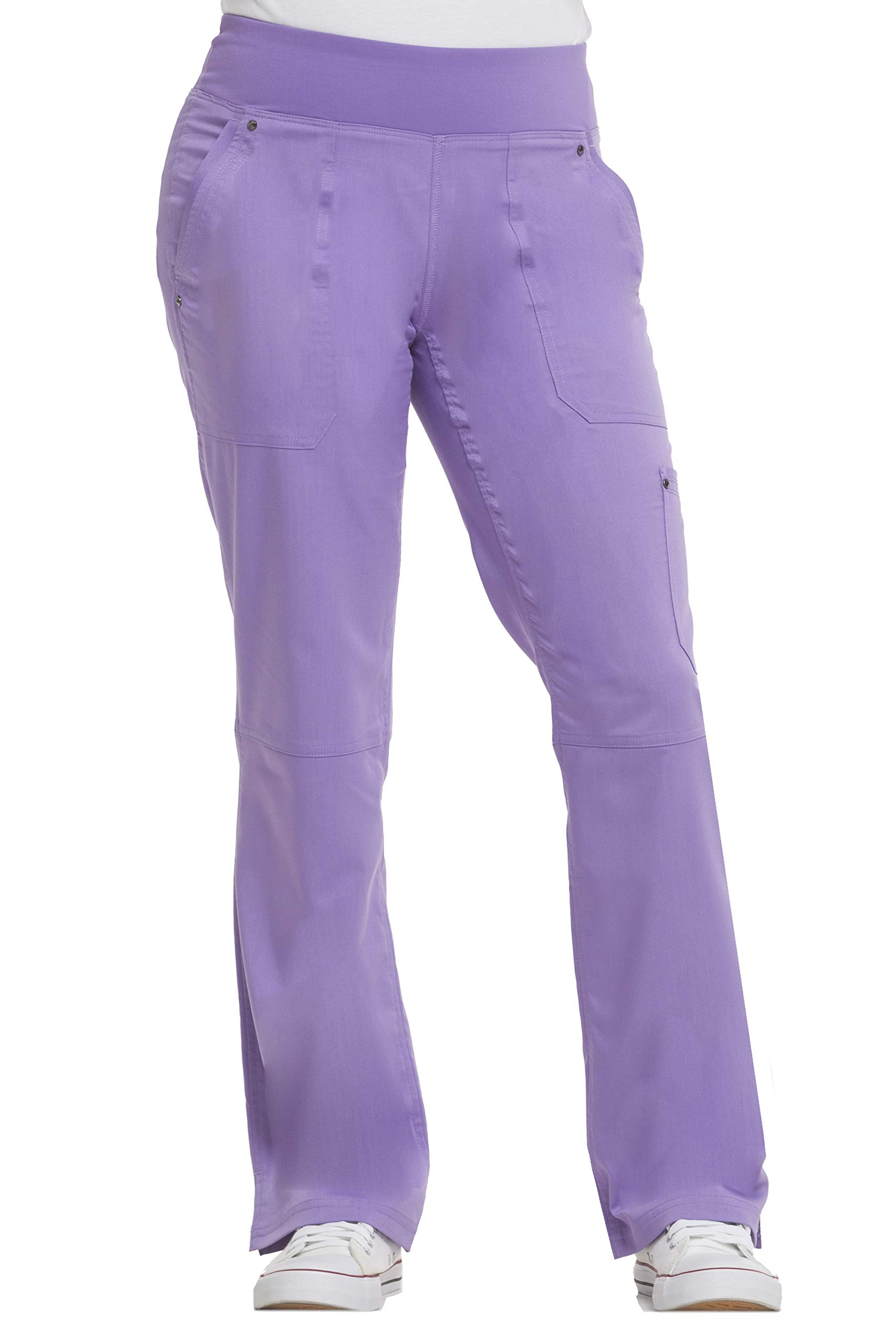 healing hands Purple Label Yoga Women's Tori 9133 5 Pocket Knit Waist Pant Purple Haze-2X by healing hands