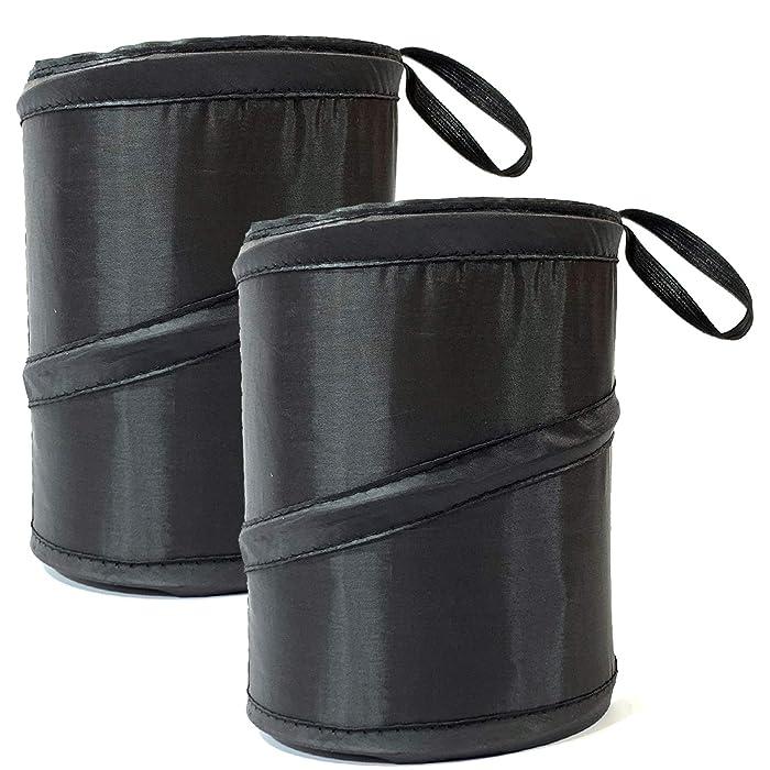KITBEST [2 Pack] Car Trash Can, Portable Garbage Bin, Collapsible Pop Up Trash Bag for Car, Water Proof Trashcan, Waste Basket Bin, Rubbish Bin, Car Organizer Enough Storage for Garbage
