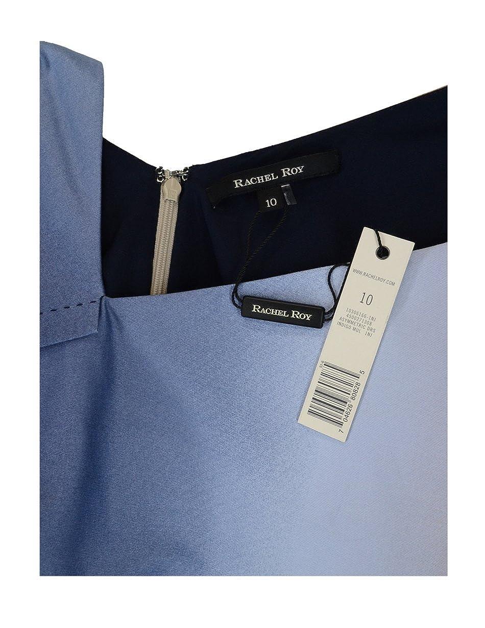 Blue Brown Multi Ombre Rachel Roy Sheath Dress Size 10