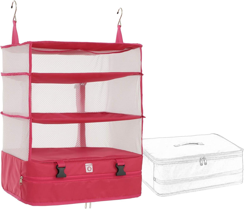 Rose Large Portable Luggage System Poemay Hanging Travel Packing Cube Organizer