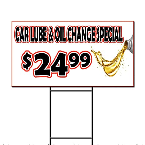 Oil Change Special >> Amazon Com Car Lube Oil Change Special Corrugated Plastic Yard