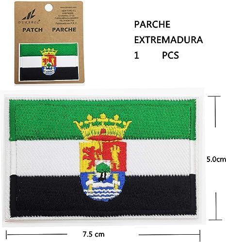 BANDERA DEL PARCHE BORDADO PARA PLANCHAR O COSER (EXTREMADURA) (EXTREMADURA-1): Amazon.es: Hogar