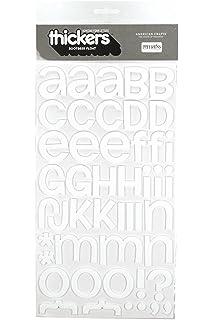 Darice Foam Glitter Stickers 55//Pkg-Alphabet-White 106-1372