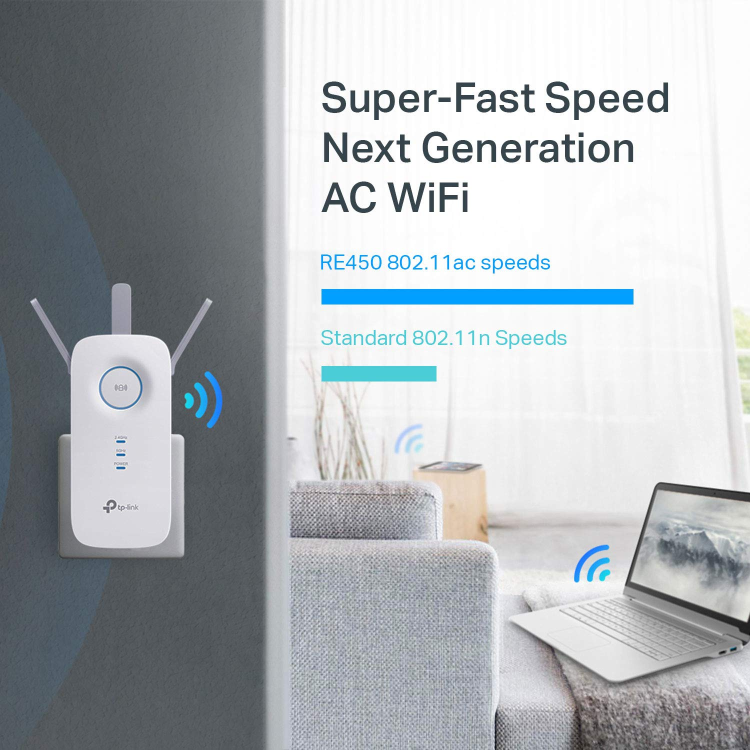 TPLink  PCMag Editor Choice  AC1750 Wifi Range Extender  Up to 1750Mbps  Dual Band Repeater Internet
