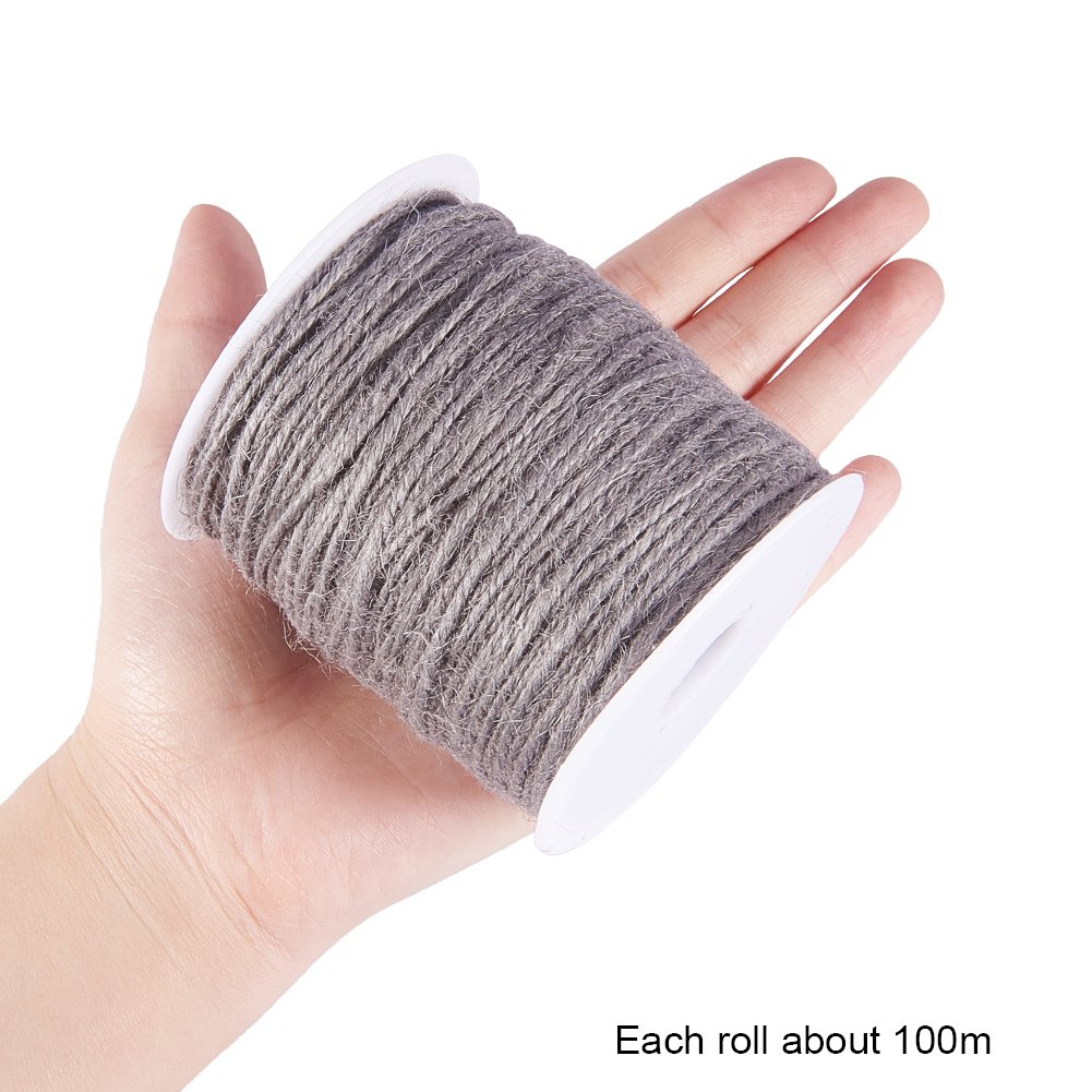 Pandahall 14-Color 2mm Jute Twine String Rope Hemp Rope Jute Cord Total 140 Yards for DIY and Crafts Gift Wrapping