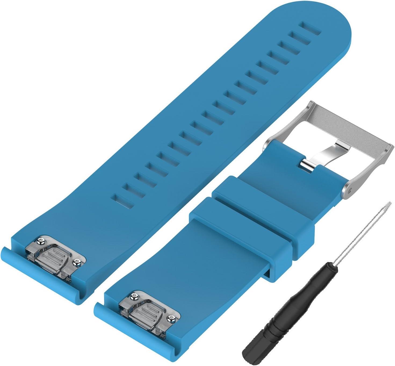 WEINISITE 26 mm Silicona Ajustable Reemplazo Pulsera para Garmin Fenix 5X GPS Watch