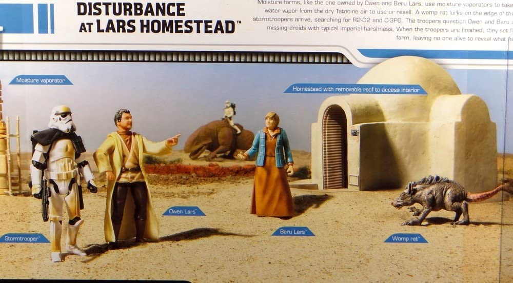 Amazon Com Star Wars Disturbance At Lars Homestead Legacy Collection Toys Games It only cost 75 credits to. star wars disturbance at lars homestead