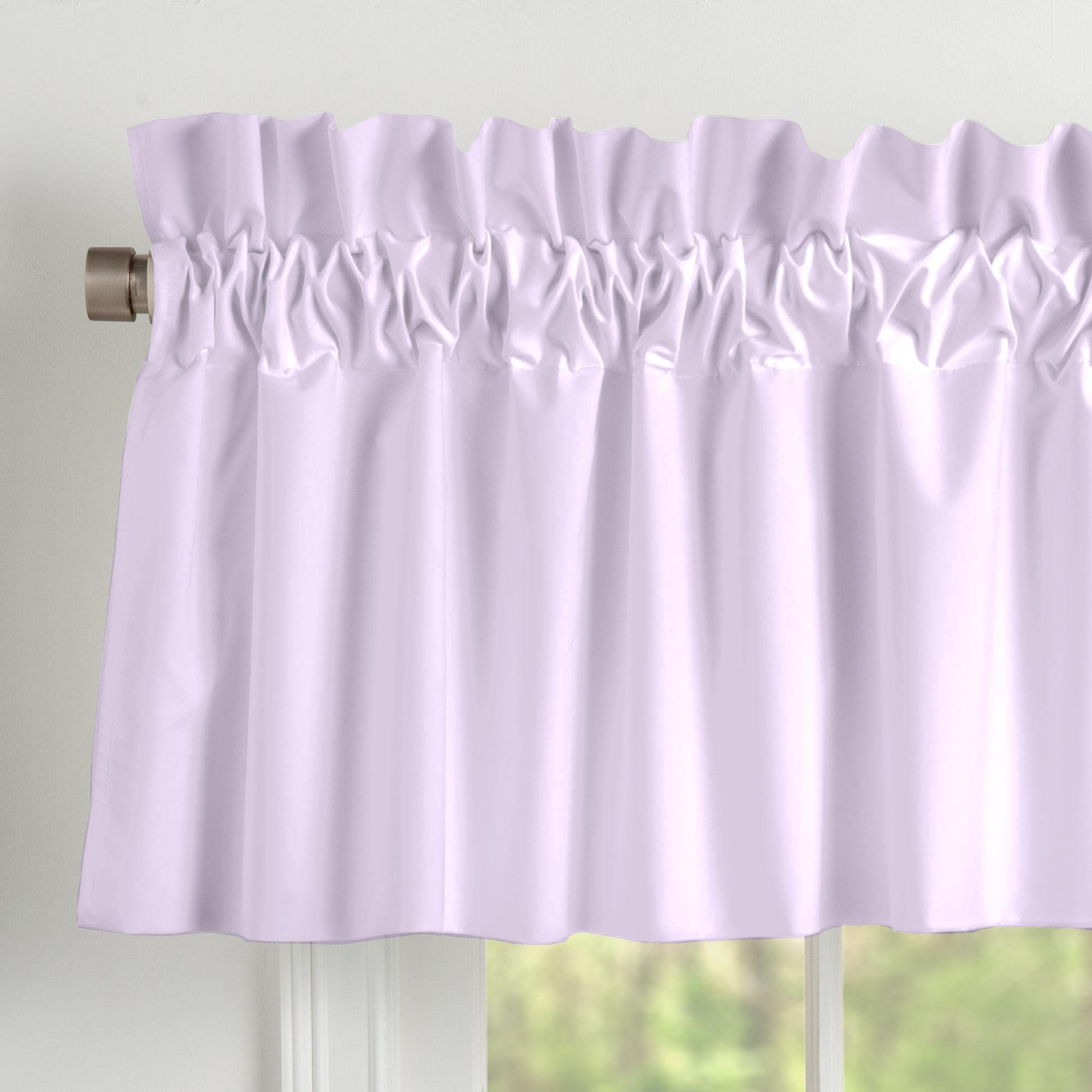 Carousel Designs Solid Lilac Window Valance Rod Pocket by Carousel Designs