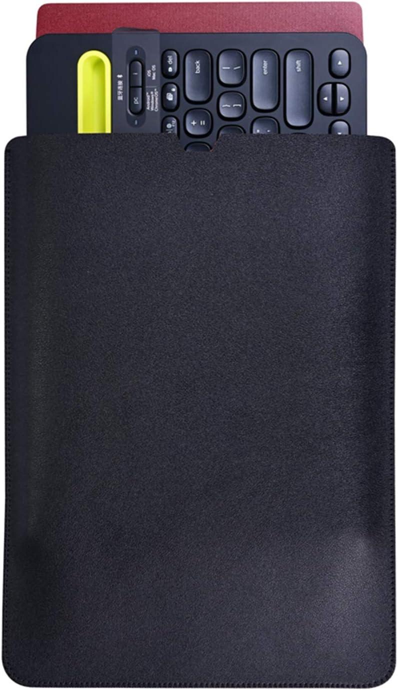 GFANSY PU Leather Keyboard Sleeve for Logitech K480 Bluetooth Multi-Device Wireless Keyboard, Felt Travel Sleeve Bag Case (for Logitech K480, PU-Black)