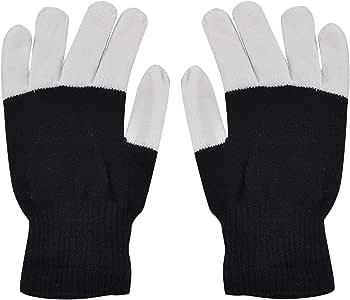 Beetest 1 par LED intermitente dedo Guante algodón mano guantes ...