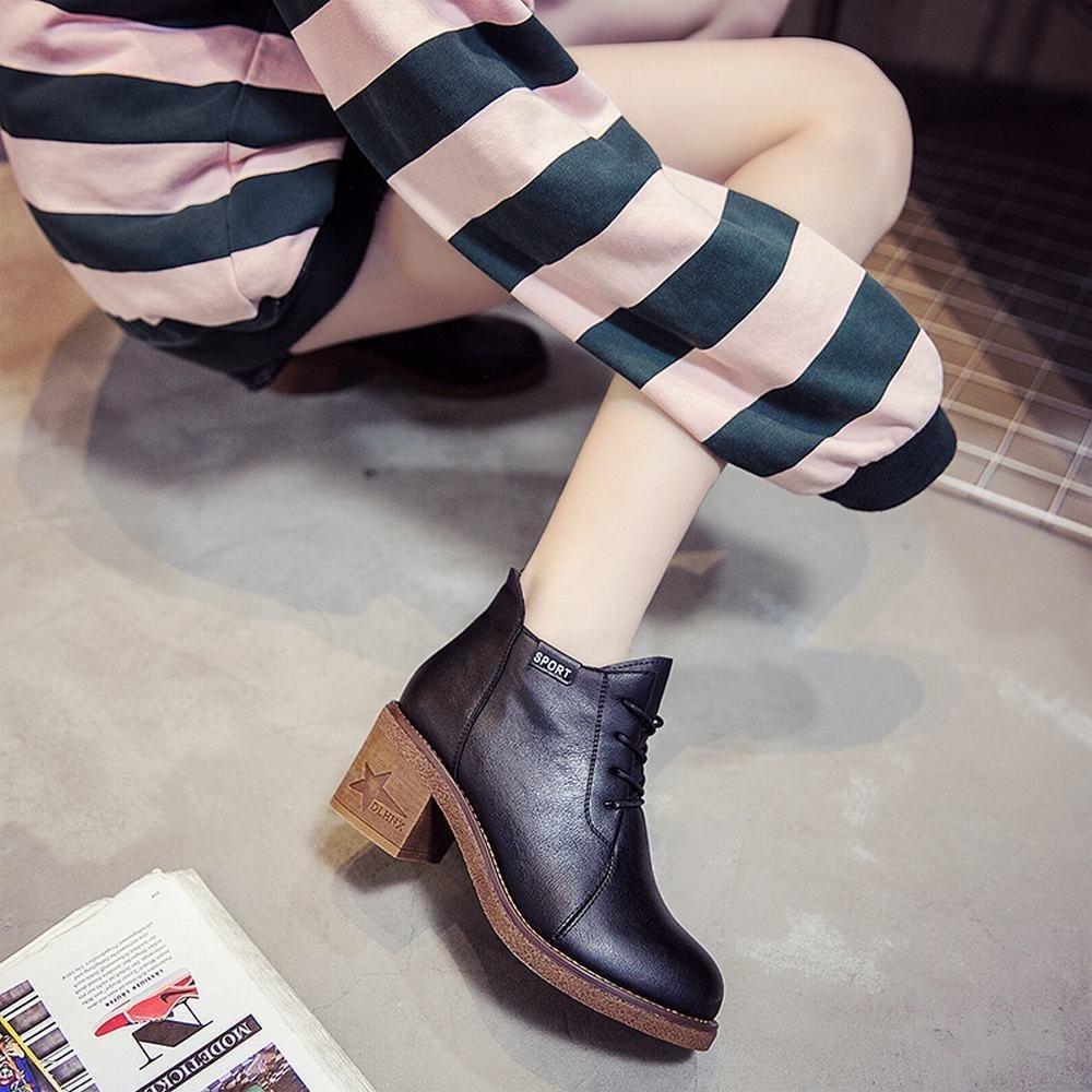 DXD Herbst Mode und Winter Europäische und Amerikanische Mode Herbst Plus Kaschmir Warme Frauen mit Kurzen Röhren und Nackten Stiefeln 422a8b