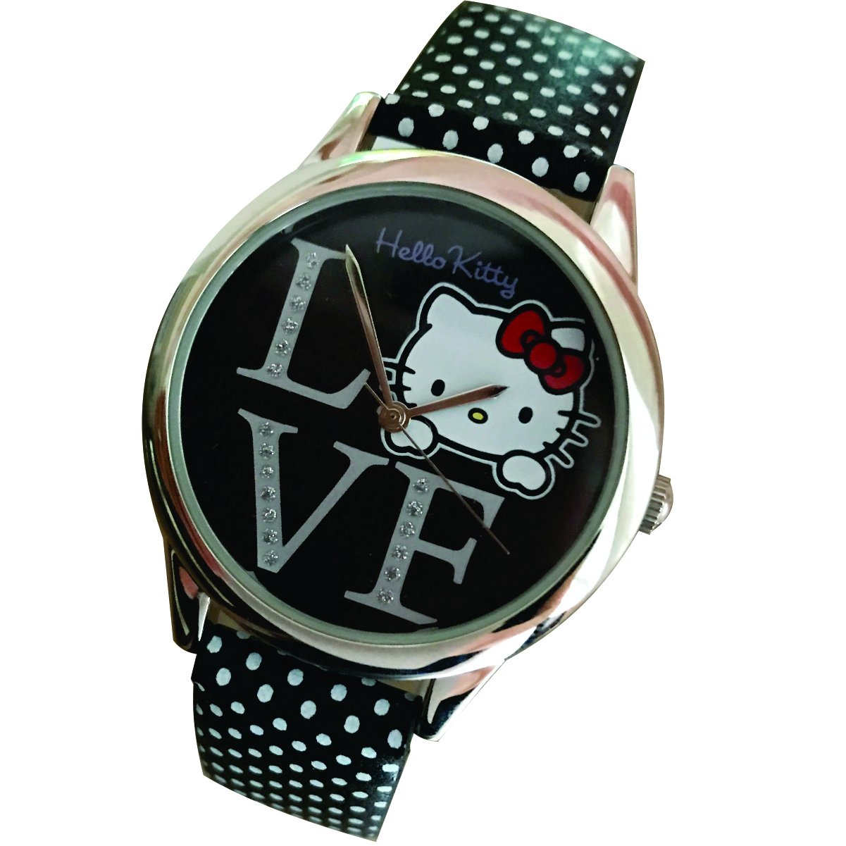 Hello Kitty LOVE Faux Leather Wrist Watch