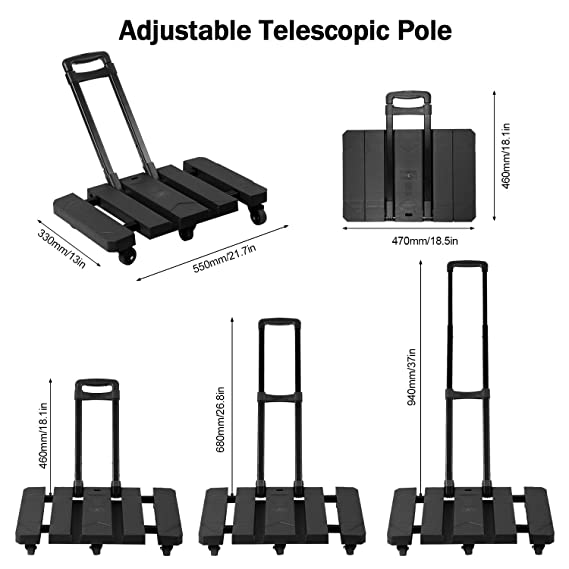 84e7e9252f70 Handy Trolley,Handy Dolly,Hand Cart,Foldable 6 Wheels Hand Trolley ...