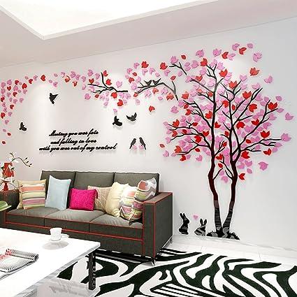 adesivi murali  Alicemall 3D Adesivi Murali Wall Sticker Forma Albero Adesivi da ...