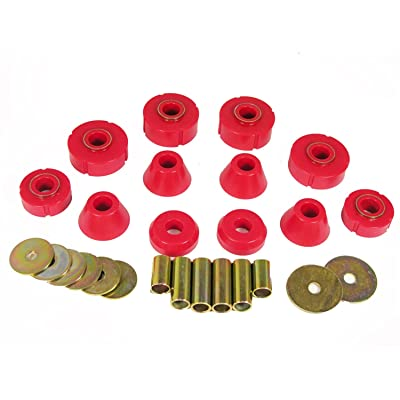Prothane 7-101 Red Body and Standard Cab Mount Bushing Kit - 12 Piece: Automotive