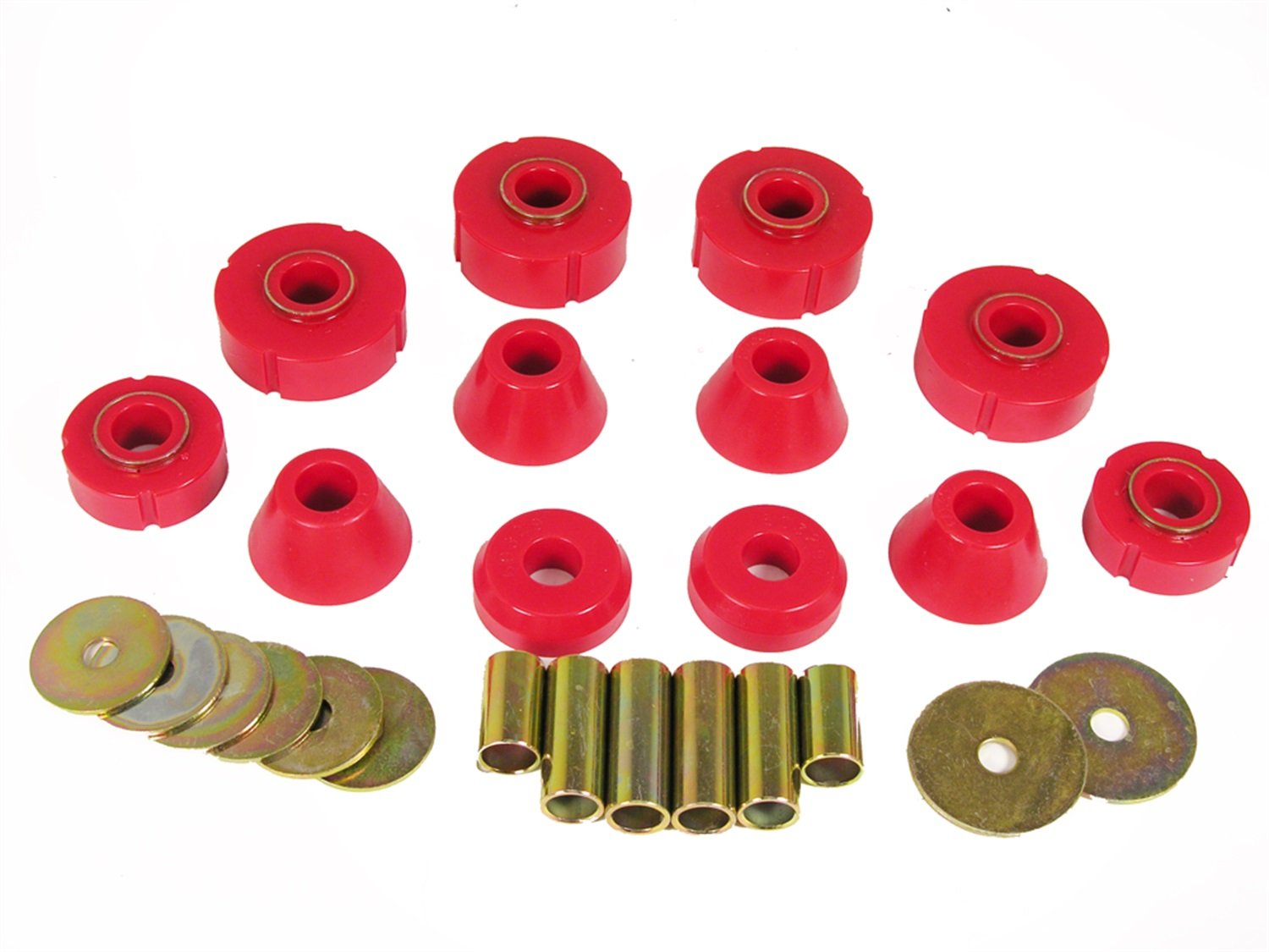 Prothane 7-101 Red Body and Standard Cab Mount Bushing Kit - 12 Piece by Prothane