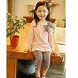 Asherangel 2pcs Baby Girls Bowknot T-Shirt