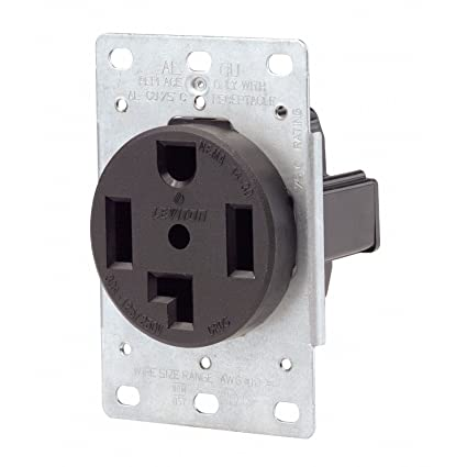 amazon com leviton power receptacle 30 amp 250 v nema 14 30 r blk  at Leviton 30 Amp 125 250 Volt Nema 14 30r Flush Wiring Diagram