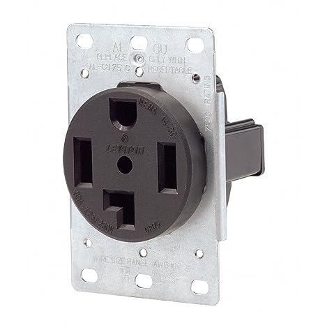 amazon com leviton power receptacle 30 amp 250 v nema 14 30 r blkimage unavailable image not available for color leviton power receptacle 30 amp 250 v nema 14