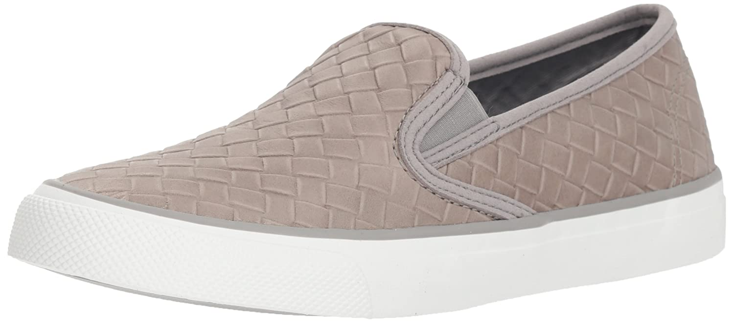Sperry Top-Sider Women's Seaside Emboss Weave Sneaker B078SHPG6V 12 M US|Grey