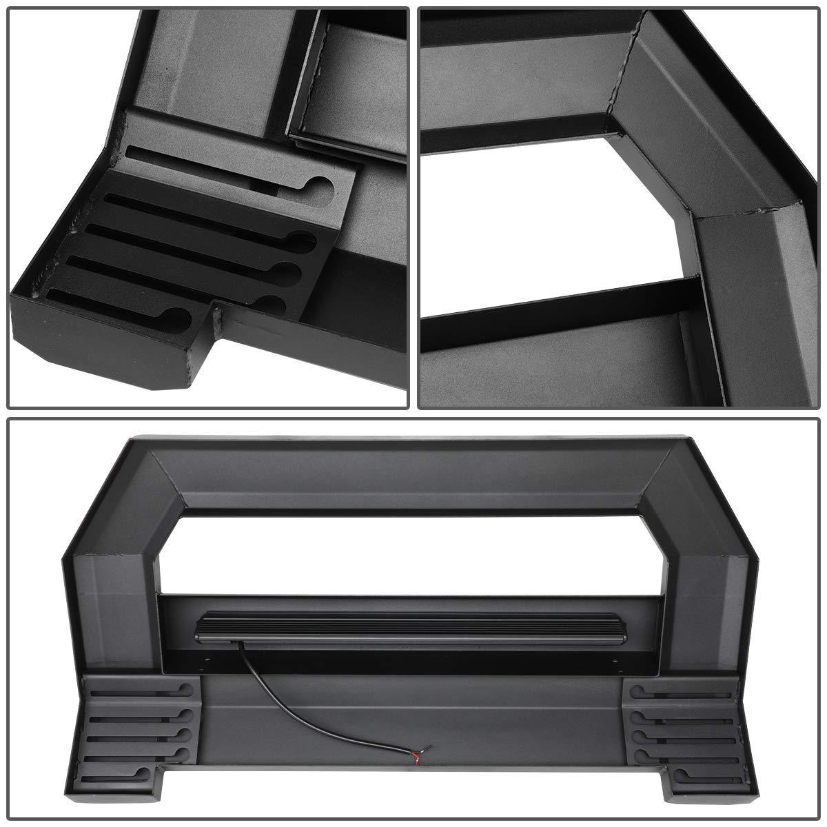 Black For Tundra Square Tube Lightweight Bull Bar w//LED Light+License Plate Relocation Kit