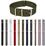 ARCHER Watch Straps, Premium Nylon NATO Straps, Choice of Color and Size (18mm, 20mm, 22mm, 24mm)