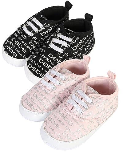 Amazon.com: Bebe bebé niña de zapatos cuna con cordones ...