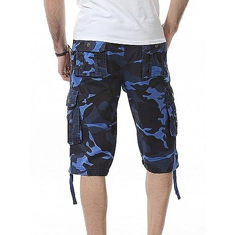 Herren Camo Cargo Hosen Hose Fitness Shorts Kurze uOTPwkXZi