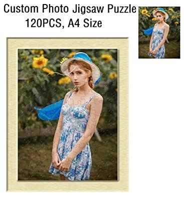 Amazoncom Personalized Custom Photo Print Jigsaw Puzzle A4 Size